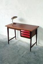 scrittoio anni 50 piccola scrivania Gio Ponti , George Nelson, Laminato rosso