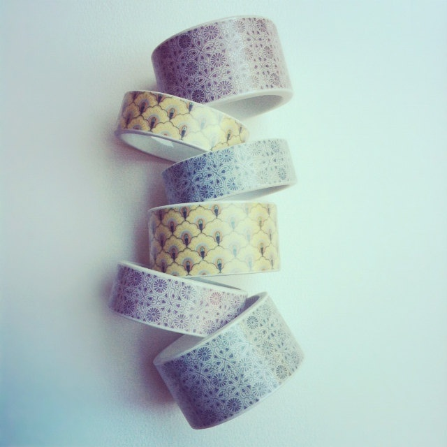 StayGoldMaryRose - NEW 'Dorrit' thin purple pattern vintage china bangle..