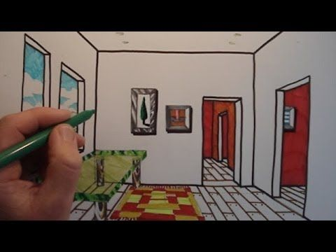 How To Draw A Room with One Point Perspective