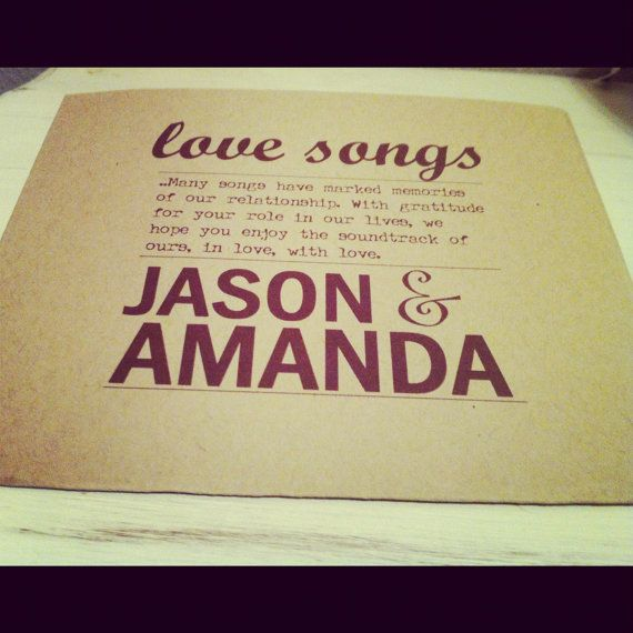 Custom CD holders for a rustic/ antique wedding