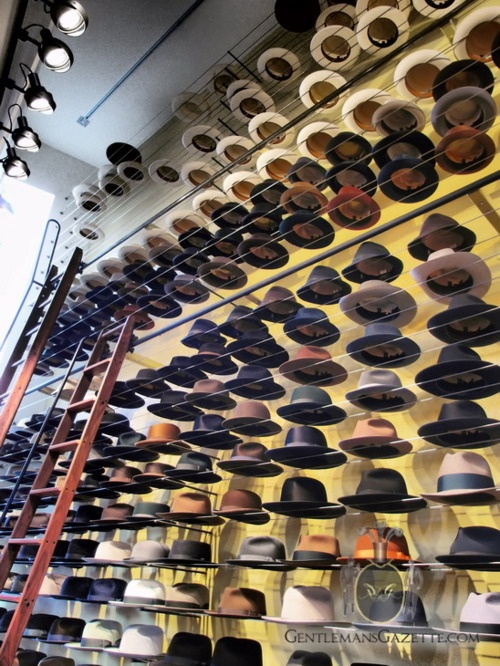 Optimo Hats....I could spend all day in this shop.