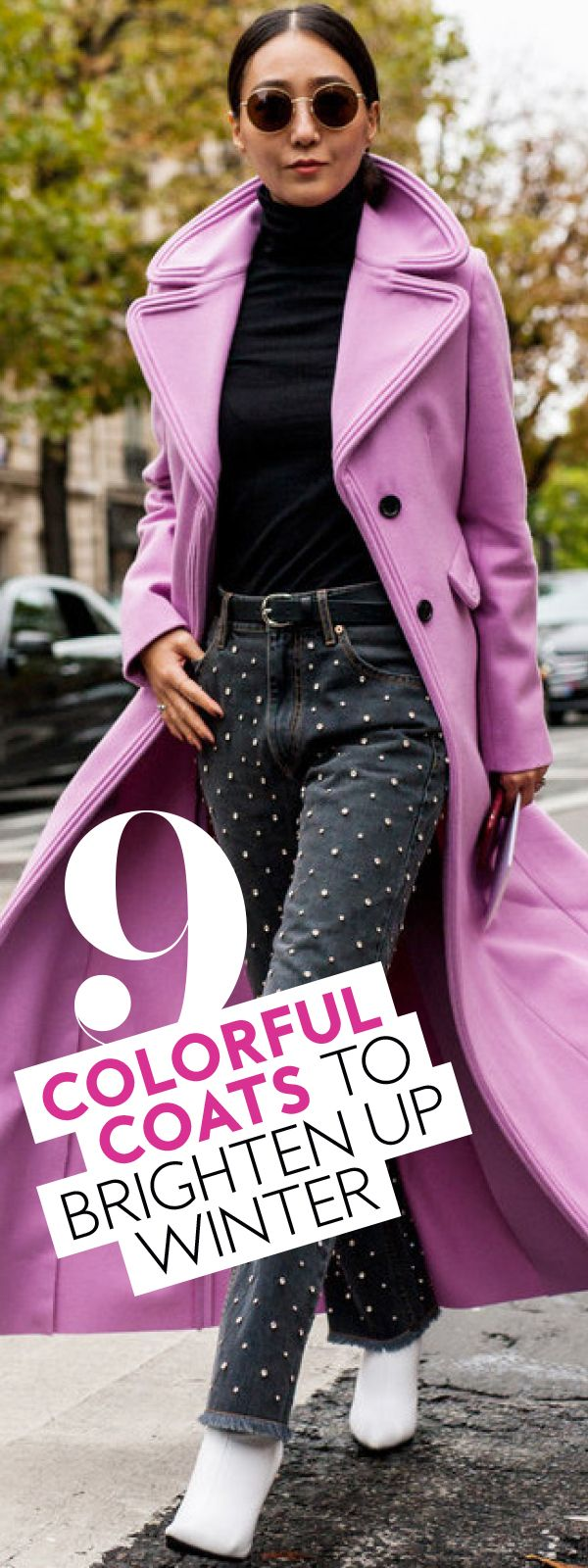 Colorful coats that will brighten your day. #ColorfulCoats #WinterCoats #BrightWinterCoats