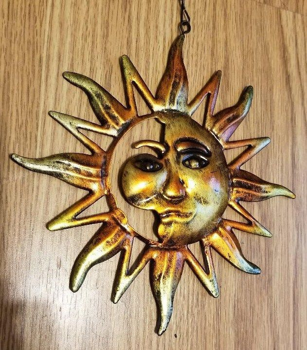 25 best projects to try images on pinterest half face celestial sun face wall art metal garden hanging indoor outdoor decor fandeluxe Images