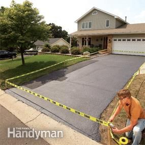Step by step instructions on how to repair and seal coat a driveway