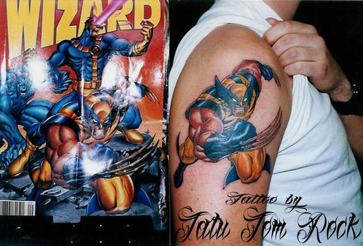 #tattoo #tattoos #colortattoo #comic #wolverine #tatutomrock #armtattoos #Chicago #art #artist