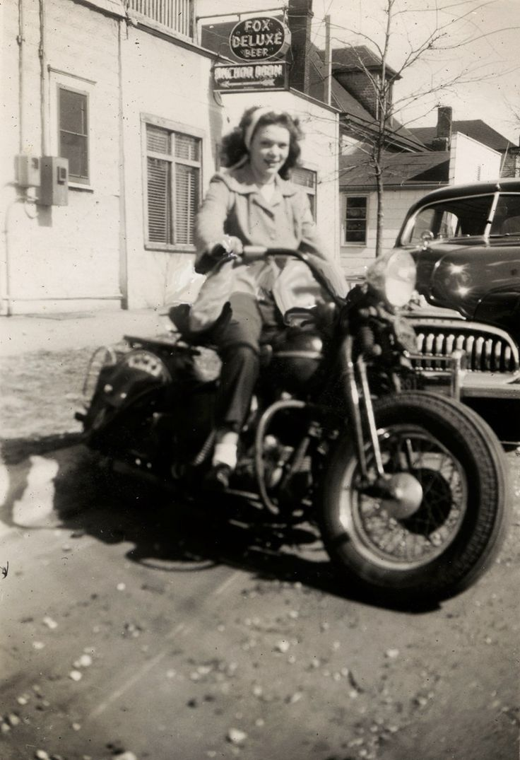 .Women have been riding since Motorcycles were invented..