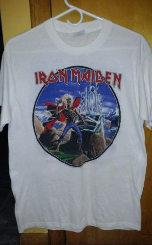 ULTRA RARE IRON MAIDEN VINTAGE 1986 PHANTOM OF THE OPERA CONCERT SHIRT / XL!!!  in Clothing, Shoes & Accessories, Vintage, Unisex & T-Shirts   eBay