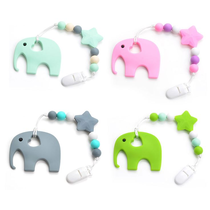 Silicone Elephant Teether //Price: $13.95 & FREE Shipping //     #gift #present