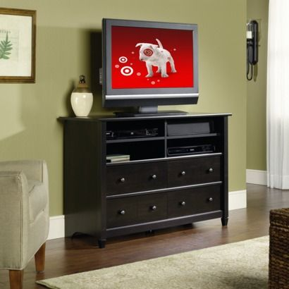 Highboy TV Stand - Estate Black   Target $180