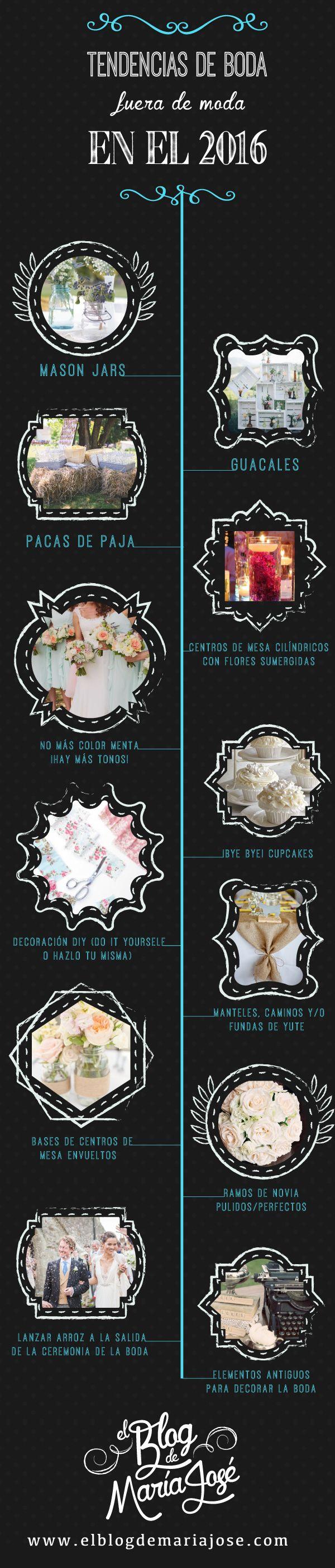 Estas son las tendencias de boda fuera de moda en el 2016 #Bodas #ElBlogdeMaríaJosé