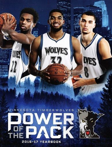 Wiggins, Towns & Lavine Minnesota Timberwolves Power Of The Pack 2016-17