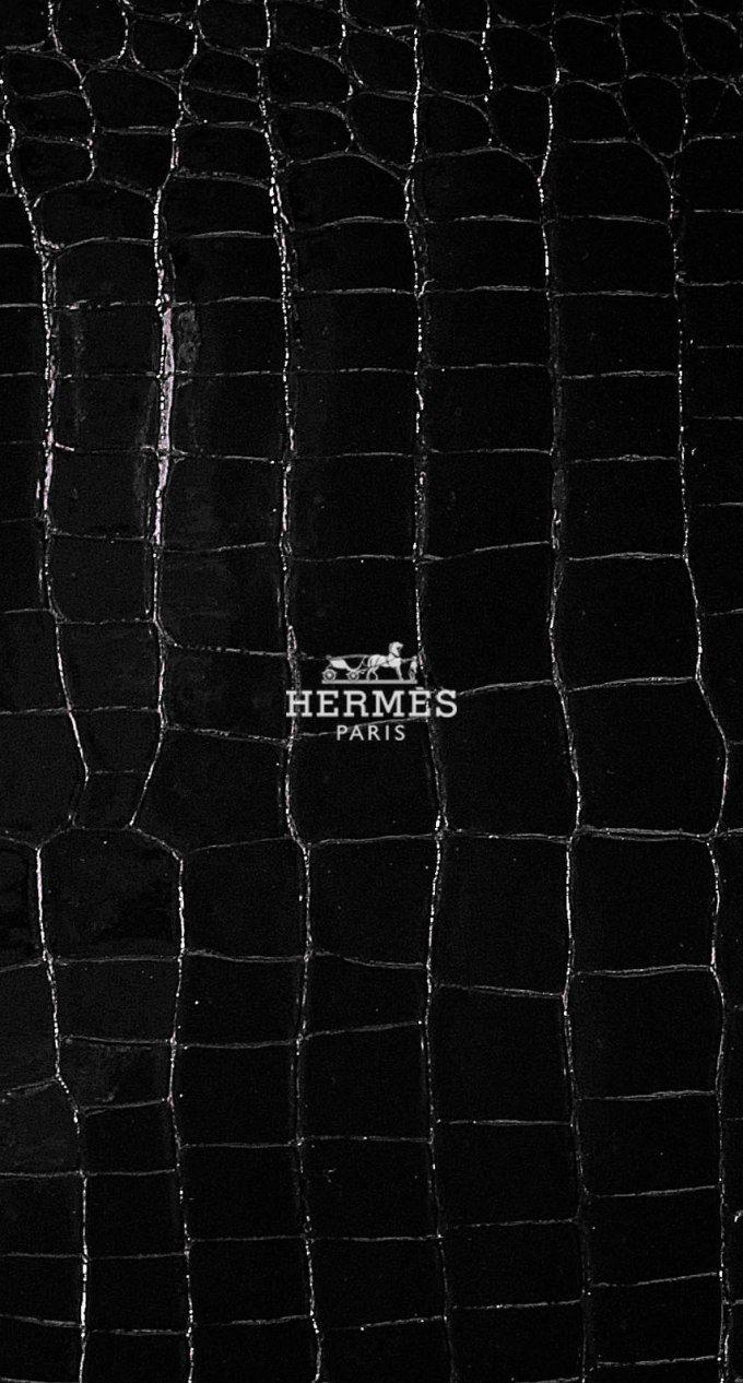 エルメス/レザーブラック iPhone壁紙 Wallpaper Backgrounds iPhone6/6S and Plus  Hermès