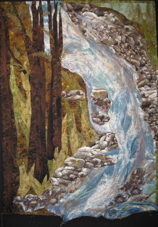 River dance art quilt, amazing.
