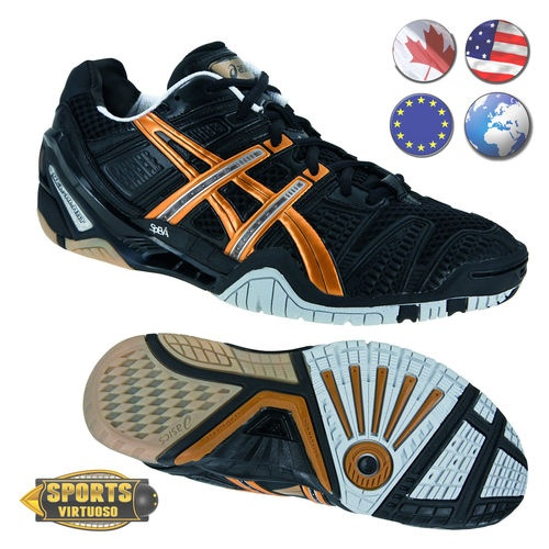 Gel Blast 4 Black Gold Silver Asics Squash Badminton Volleyball Court Shoe  | eBay $169.00