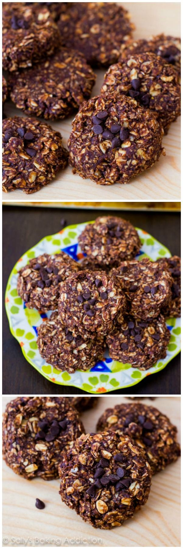 These lightened-up no bake cookies are only made with only 7 simple ingredients!