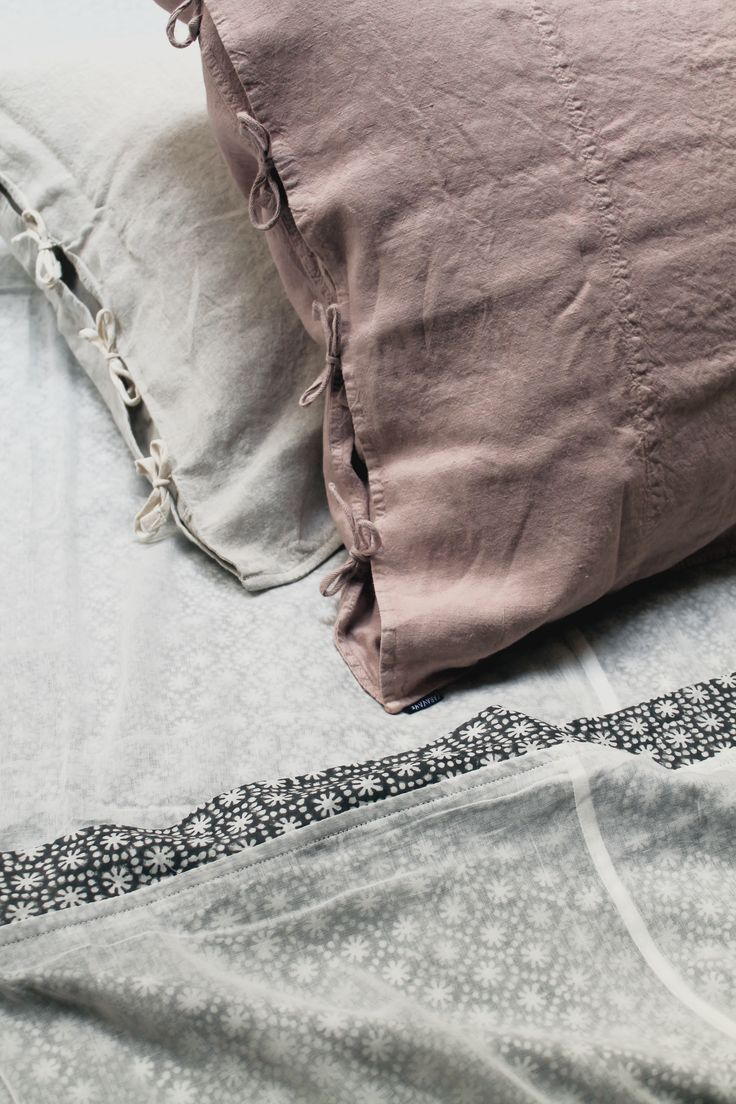 Washed linen from Caravane. pastel colors  Bed inspiration
