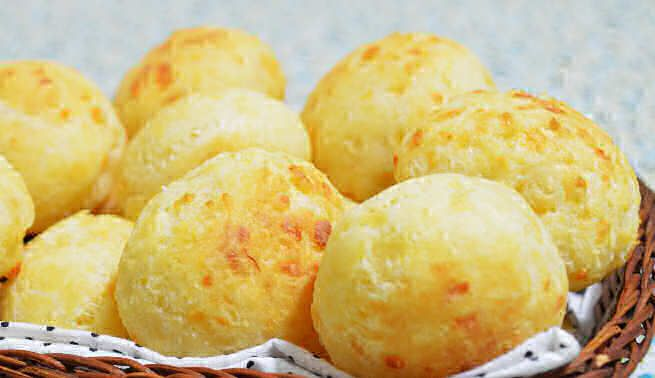 Pão de queijo is a small, baked, cheese roll, a popular snack and breakfast food in Brazil.…