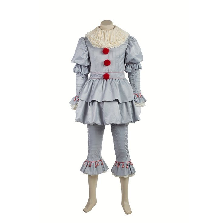 skycostume - 2017 IT Movie Pennywise The Clown Outfit Cosplay Costume