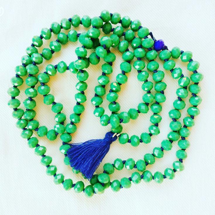 Verde e blu collana green/blue necklace tassel