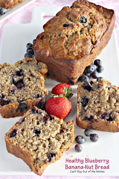 Healthy Blueberry Banana-Nut Bread | Can't Stay Out of the Kitchen | this lovely blueberry bread is healthy as well as delicious!