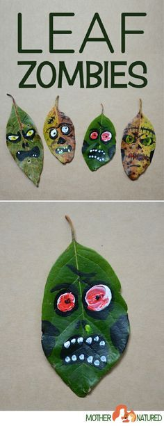 Halloween Zombie Craft | Leaf Zombies| Zombie crafts kids
