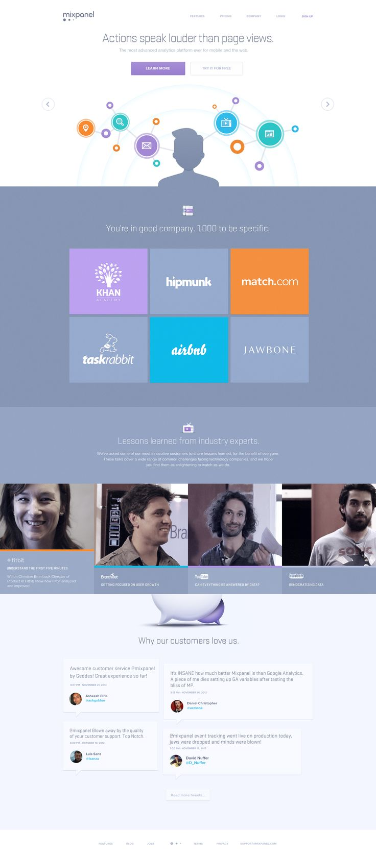 Mixpanel Home Page #beautiful