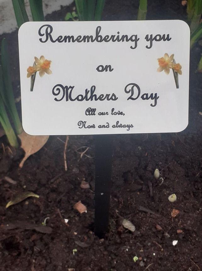 Mothers Day Memorial Plaque Mum Grave Ornament Cemetery Grave