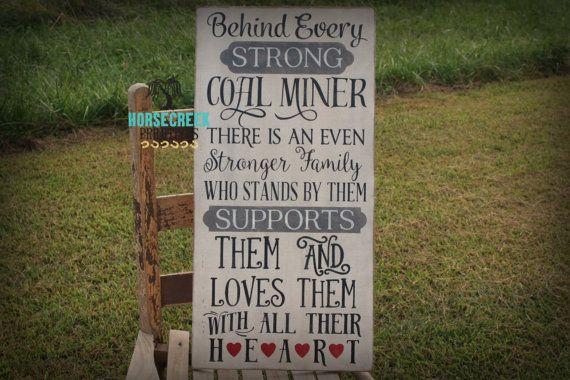 Coal Miner Family Sign 12x24 by HorsecreekPrimitives on Etsy