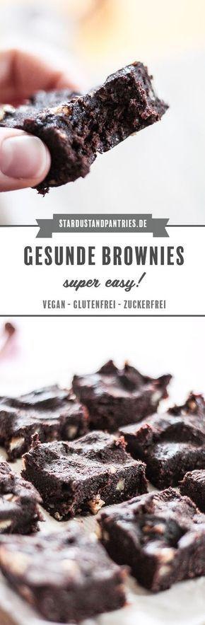 Gesunde vegane, zuckerfreie und glutenfreie Brownies: In wenigen Minuten können Sie …   – essen