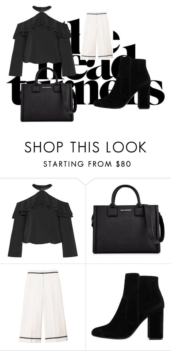 """D"" by tiyati on Polyvore featuring Alice + Olivia, Karl Lagerfeld, SemSem and MANGO"