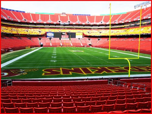 FedEx Field -Home of the Washington Redskins.   Always sold-out and fun !