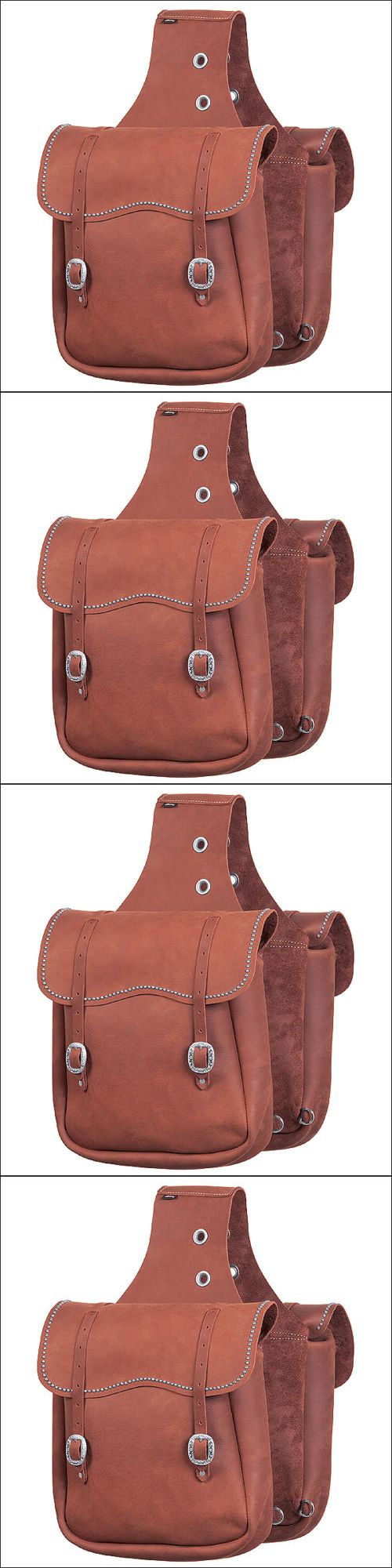 Saddle Bags 167243: Brown Weaver Chap Leather Horse Saddle Bag With Spots Tack Western -> BUY IT NOW ONLY: $147.95 on eBay!