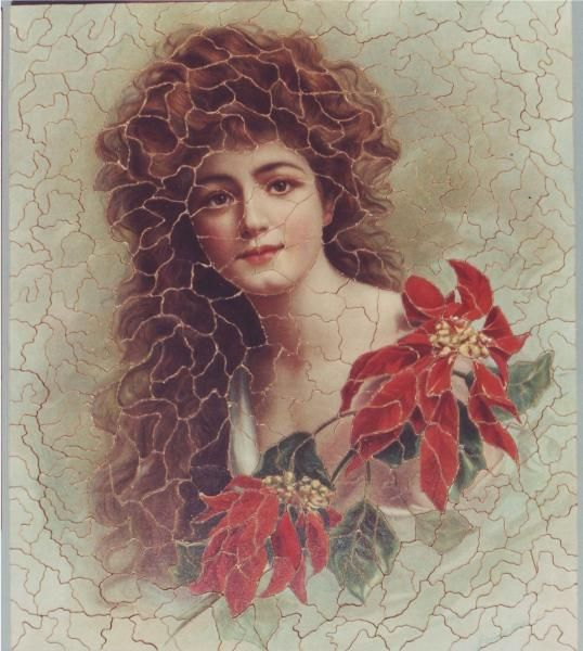 The first jigsaw puzzles were produced in the late 1700s by mapmakers mounting maps on hardwood and cutting pieces out with a maquetry saw. But the jigsaw's heyday was around 1900, when puzzle makers began to experiment with smaller pieces, often using people as their subject. This one is called Poinsettia and features at the end of the novel to suggest a resigned calm at Summerhayes.