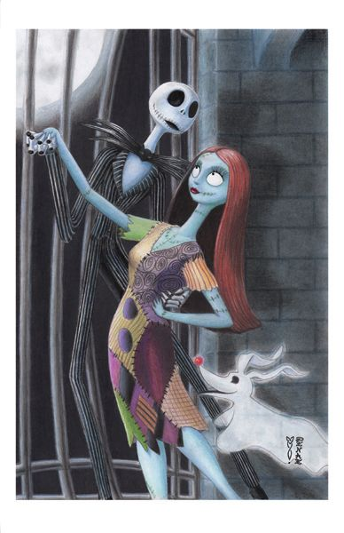 Jack Sally and Zero - Nightmare Before Christmas by DenaeFrazierStudios on DeviantArt