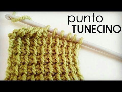 Ponto da Tunísia (Ponto Básico ou Ponto Simples do Crochê da Tunísia) - YouTube