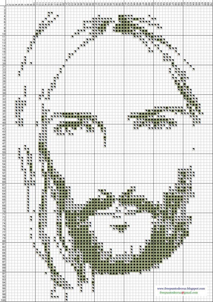 Dibujos Punto de Cruz Gratis: Religiosos