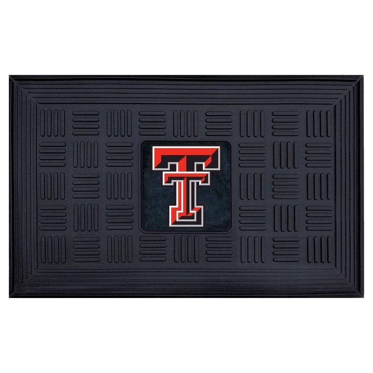 "Door Mat 1'8""X2'8"" Fanmats Texas Tech Red Raiders Team Color"