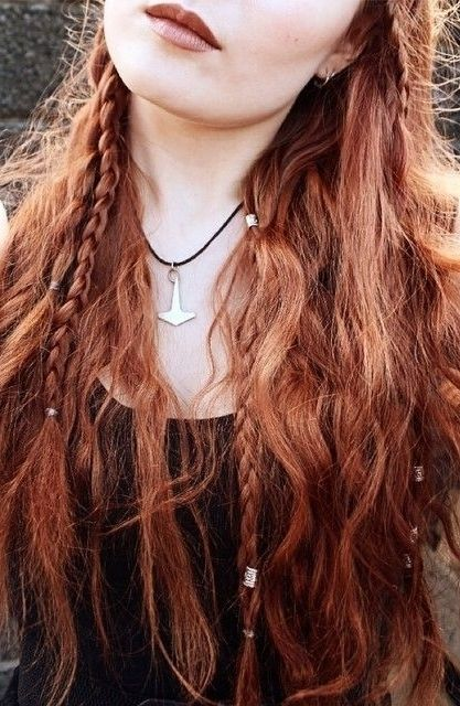I need some metal beads. I used to wear them in high school. Haha red hair braids