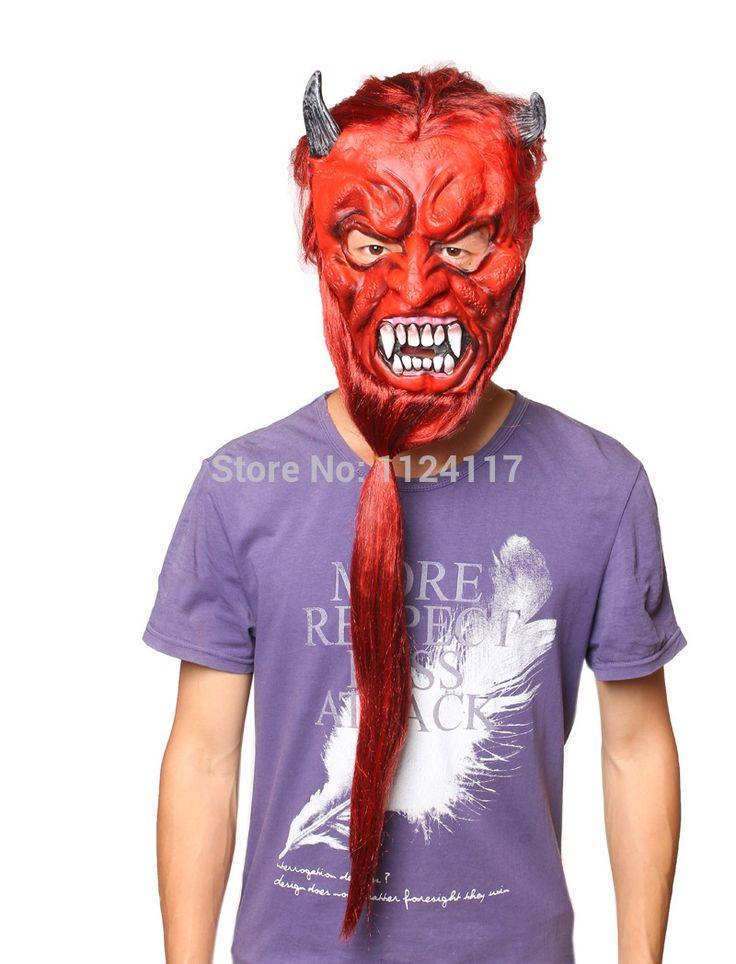 Хэллоуин туши для ресниц маска Horrorble смешные маски Карнавальные маски партии реалистичные силиконовые Хеллбой маскарадные маски MS0016