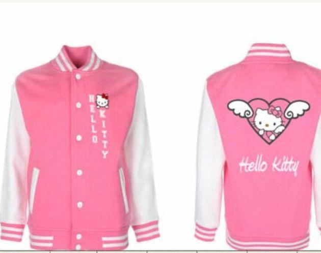 Hello Kitty college jacket #kawaii