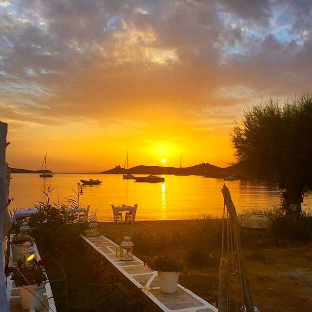 Lovely sunset at Vourkari village , in Kea-Tzia island (Κέα-Τζιά). A beautiful island for your relaxing summer holidays !