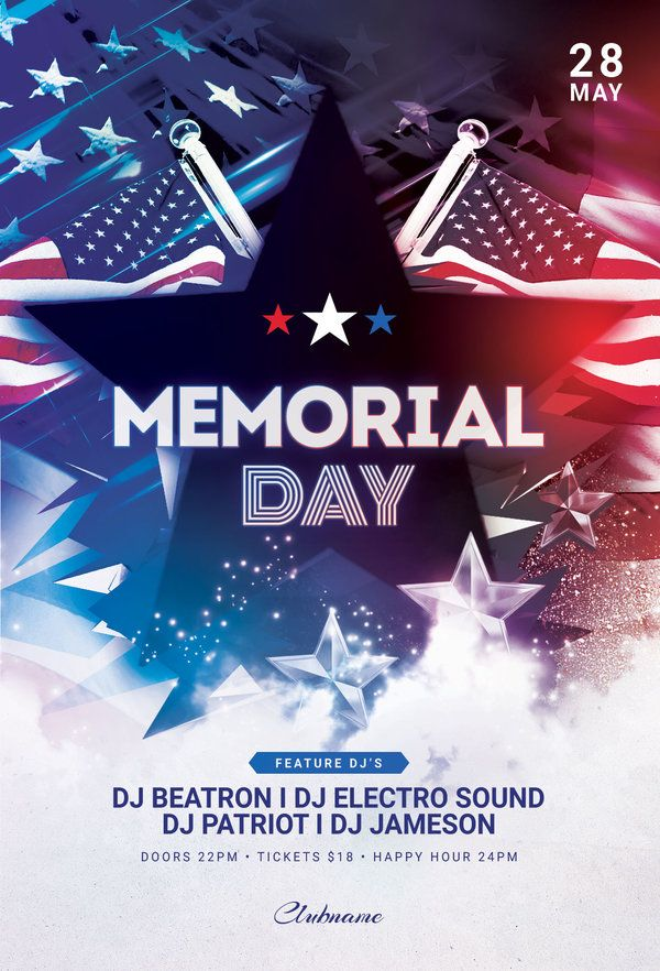 memorial day flyer by stylewish download the psd design for 9 at