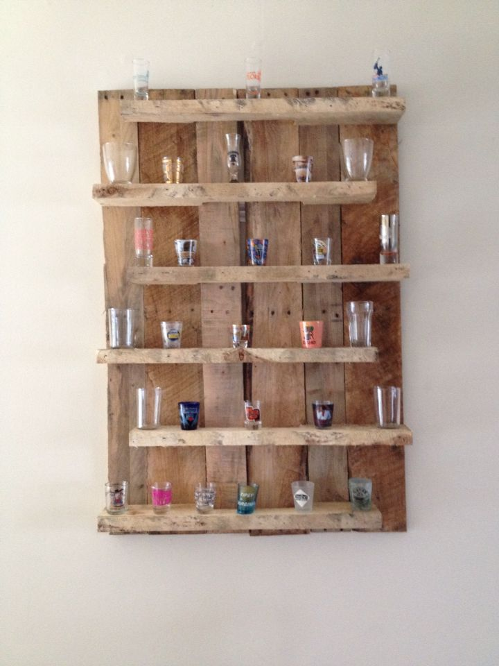 Pallet shot glass display #worden