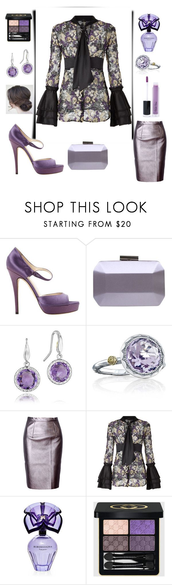 """""""Looking Lovely in Lilac & LaPerla Lace💜"""" by mdfletch ❤ liked on Polyvore featuring Yves Saint Laurent, Carvela, Tacori, WithChic, La Perla, BCBGMAXAZRIA, Gucci, Violet Voss and lilac"""