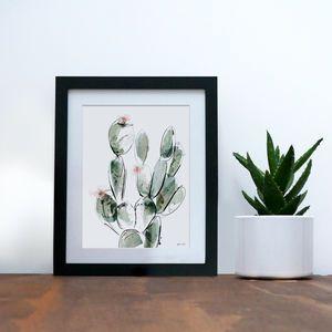 'Prickly Pear' Cactus Art Print | Pinterest | Cacti and Cactus decor
