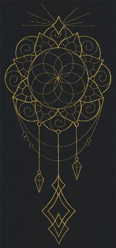Talisman - Draping Medallion | Urban Threads: Unique and Awesome Embroidery Designs