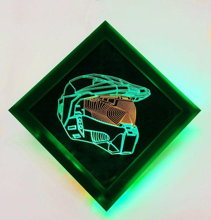 Halo Master Chief Helmet Light Art