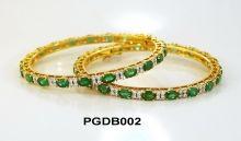 Emerald Bangle Pair