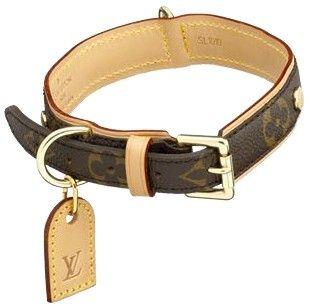 lv designer dog collar