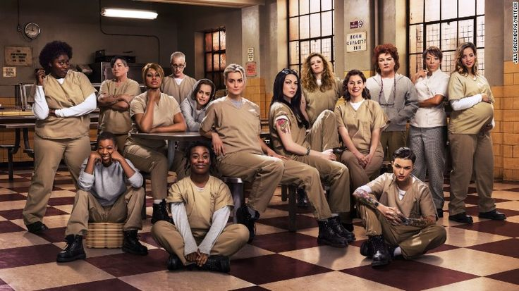 "Season 3 of ""Orange is the New Black"" - L-R: Danielle Brooks, Samira Wiley, Lea DeLaria, Laverne Cox, Lori Petty, Taryn Manning, Uzo Aduba, Taylor Schilling, Laura Prepon, Natasha Lyonne, Yael Stone, Ruby Rose, Kate Mulgrew, Selenis Leyva, Dascha Polanco"
